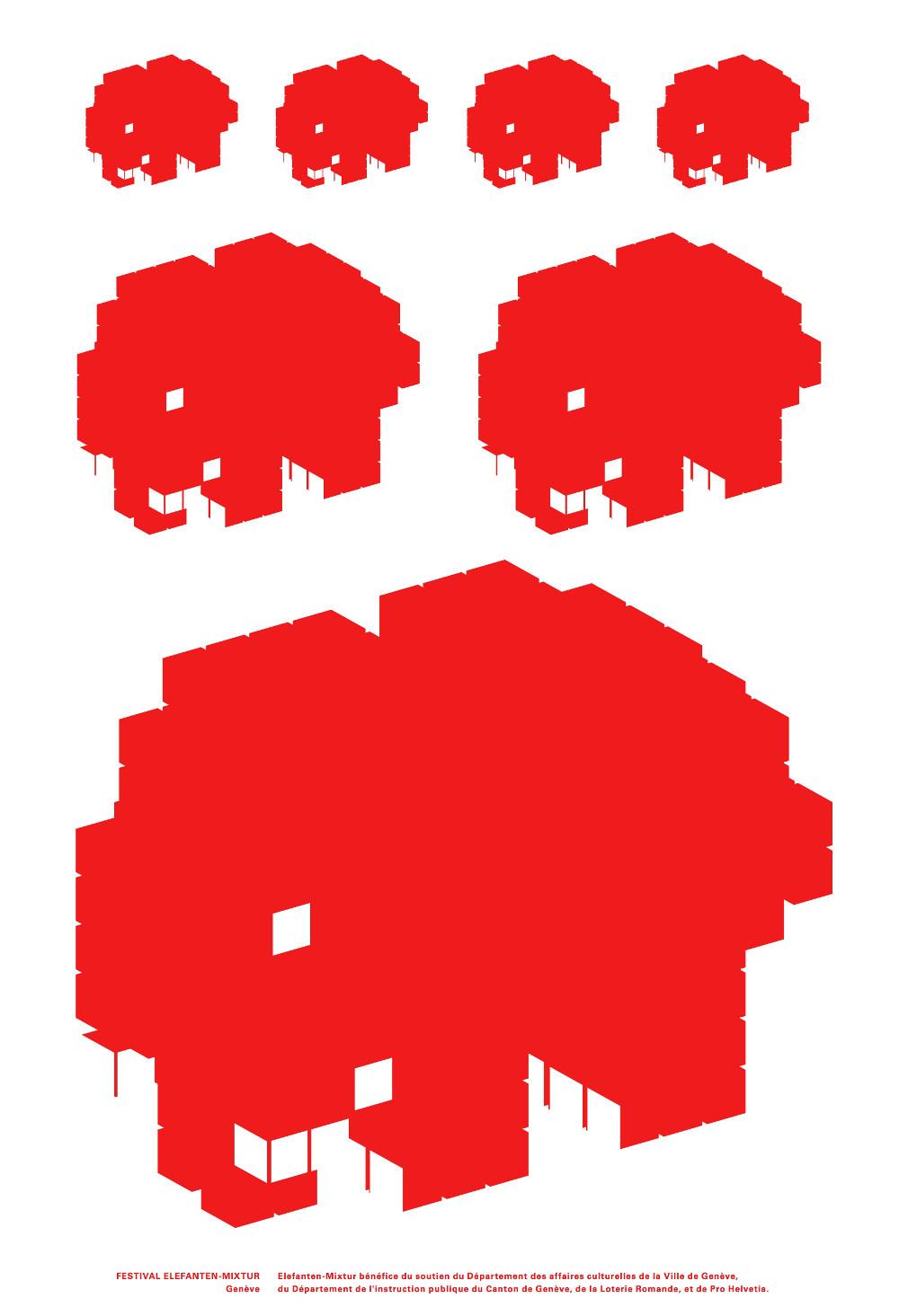 Affiche Elefanten