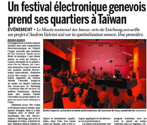 Le journal Courrier 2008