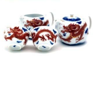 """""""Théière Dragon Taiwan porcelaine - Épicerie Valvini - aliments sains, éthiques dans une épicerie de proximité, Rossinière, Vaud et au marché de Carouge à Genève"""""""